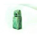 □§Disk的天然水晶§□【招財進寶】老坑花青翡翠貔貅雕刻印章印材BC13-A貨專賣