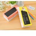 韓版紙質創意黑板鉛筆盒/兒童雙層文具盒粉紅色 多功能女生
