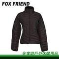 【全家遊戶外】㊣Fox Friend 狐友 女款單件式羽絨外套 M、L 黑色 1086I-3/不規則壓紋 保暖 羽絨衣