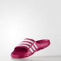 *樂買網* Adidas/ Duramo Slide K系列/酒紅色/D67480/超輕量兒童拖鞋/免運/送Loopal運動襪