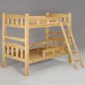 Homelike 雅登3.5尺雙層床-原木色 床架 單人床 床組 床台 上下舖 兒童床 免運 專人配送