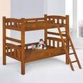 Homelike 雅登3.5尺雙層床-淺胡桃色 床架 單人床 床組 床台 上下舖 兒童床 免運 專人配送