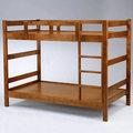 Homelike 米克3.5尺雙層床-淺胡桃色 床架 單人床 床組 床台 上下舖 兒童床 免運 專人配送米克