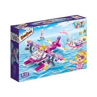 【BanBao邦寶積木楚崴】沙灘女孩系列 6132觀光水上飛機(可與樂高Lego相容)