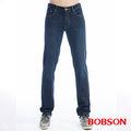 【BOBSON】男款保暖低腰膠原蛋白直筒褲(藍1793-52)