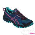 ASICS亞瑟士 女越野慢跑鞋 GEL-SONOMA 2 G-TX (藍*粉)