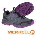 【美國 MERRELL】女新款 CAPRA RISE 專業輕量化避震透氣健行鞋(抗菌防臭鞋墊 耐磨) GRIP鞋底.適登山 行走 灰紫 ML37314