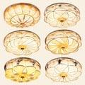 調光遙控開關現代簡約大氣客廳燈地中海圓形LED主臥室吸頂燈美式書房餐廳燈飾