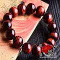 佛珠【幸福紅虎眼石手鍊】天然 圓珠 手環 手鏈 赤紅 水晶 保平安 含開光 馥瑰馨盛NS0324
