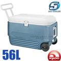 【美國 IgLoo】MAXCOLD系列 五日鮮60QT拉桿冰桶(56L).拖輪行動冰箱/保鮮保冷.美國製造.保鮮長達五天 非coleman /45335