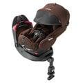 [加贈超值商品]Aprica 平躺型嬰幼兒汽車安全臥床椅Fladea grow 旅程系列HIDX-日初橙紅