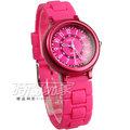 Lotus 時尚錶 日本機蕊 繽紛馬卡龍 數字時刻矽膠腕錶 女錶 TP2122L-07桃紅