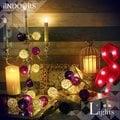 英倫家居 創意燈飾 泰國籐球燈串 電池電源 紫色戀人 氣氛燈 LED燈 浪漫婚禮 派對飾品 生日 聖誕燈 情人節 似棉球燈可參考