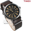 TIMEX 天美時 夜光顯示 24時顯示 皮帶腕錶 深咖啡色 男錶 TXT2P85800