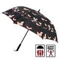 《150公分超大傘面》【2mm】都市叢林 迷彩高爾夫揹帶防風直傘 (咖啡)