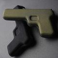 天晴設計│ㄅㄧㄤˋ ㄅㄧㄤˋ手槍筆盒│黑+軍綠2色雙槍組│《隨附精美禮袋》
