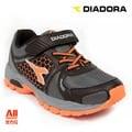 【Diadora 迪亞多那】【全方位運動戶外館】抗水越野慢跑鞋 童鞋 -灰橘色(D3668)