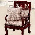 【凱蕾絲帝】濃情牡丹~實木椅專用絨布緹花記憶聚合坐墊(54*56CM)-1入