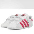 [ FEEL 9s ] Adidas Superstar Crib 金標 學步鞋 BABY 兒童 魔鬼氈 白 桃紅 S79917