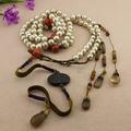古玩雜項清代宮廷朝珠 珍珠朝珠琉璃背云十八子手串配飾配件批發