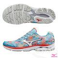 MIZUNO 美津濃 WAVE RIDER 20 (W) 女慢跑鞋 路跑 (楓葉X銀白) 富士馬拉松紀念鞋款 限量