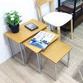 【Ailiwu愛麗屋】多用途三套茶几組/沙發邊桌/角落桌/邊桌#56637