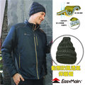 【EasyMain 衣力美】頂級 Polartec Alpha 超輕量動態防風透氣保暖帽子(類羽絨纖維 可水洗)質輕快乾/防潑水 適登山健行滑雪 H1601 黑色