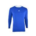 【登瑞體育】MIZUNO 男生長袖緊身衣 藍/彈性/輕薄/伸縮/吸汗/透氣/抗紫外線 12TA5C1722
