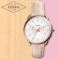 FOSSIL 手錶 專賣店 ES4007 女錶 石英錶 皮革錶帶 防水 強化不易磨損玻璃 全新品 保固一年 開發票