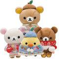 懶懶熊絨毛玩偶娃娃友情手套系列懶妹小雞蜜茶熊流蘇斗篷670906通販部