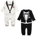 瑞典 The Tiny Universe 小紳士西裝造型長袖連身衣 婚宴 / 晚宴 / 宴會 / 派對 2色 - 黑 / 白 001 / 007