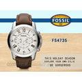 CASIO時計屋 FOSSIL手錶 FS4735 男錶 石英錶 皮錶帶 防水 礦石鏡面(黑面FS4812/FS4813)