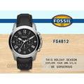 CASIO 時計屋 FOSSIL手錶 FS4812 男錶 石英錶 皮革錶帶 防水 強化玻璃鏡面(咖啡色錶帶FS4813)