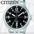 CITIZEN 星辰 手錶專賣店 BI1050-81F 石英錶 男錶 銀色不銹鋼錶殼和手鍊 礦物玻璃 黑面數字面