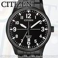 CITIZEN 星辰 手錶專賣店 BI1055-52E 石英錶 男錶 黑色離子鍍不銹鋼錶殼和手鍊 礦物玻璃