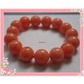 飾品 新款14毫米圓珠 糖果色絲狀西瓜紅蜜蠟手鏈女女士手鏈