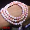 胭脂貝7毫米108顆南美洲胭脂貝108顆多圈手鏈旺人緣增進夫妻感情大小珠粉色女款