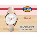 CASIO 時計屋 FOSSIL手錶 ES4007 女錶 石英錶 皮革錶帶 防水 (另有ES4006 ES3713)