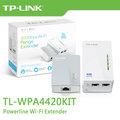 TP-LINK TL-WPA4220KIT 300Mbps+ AV500 Wi-Fi 電力線網路橋接器 雙包組(Kit) / TL-WPA4220 KIT