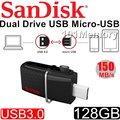 101★公司貨 SanDisk 128G 128GB Dual OTG micro USB 3.0 手機 平板 隨身碟 雙用 USB3.0 雙用隨身碟 SDDD2-128G