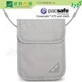 《綠野山房》PacSafe 澳洲 烏龜包 Coversafe X75 RFID掛式護照卡包 安全貼身掛頸暗袋 出國 旅遊 防盜 防搶 灰 10148103