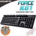 技嘉 GIGABYTE FORCE K81 電競機械式鍵盤 青軸 紅軸 中文/英文