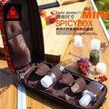 【大山野營】中和 KAZMI K6T3K001 經典民族風調味料收納袋(MINI)紅色 附調味瓶 調味罐