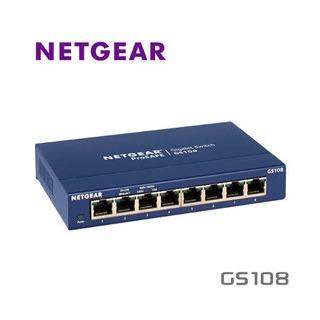 NETGEAR GS108 ProSafe 8埠 10/100/1000M Gigabit Ethernet Switch 網路集線器