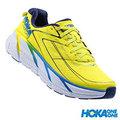 HOKA ONE ONE CLIFTON3 輕量動能緩震 (男)馬拉松鞋 - HO1012046CDNB 柑橘黃/德勒斯登藍 [陽光樂活]
