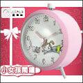 【鐘點站】可愛插畫風系列鬧鐘 - 小女孩與貓咪款 / 鬧鐘 / 鬧鈴 / 金屬烤漆外殼