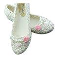 【CaiLing】玫瑰花珍珠防水輕便雨鞋(粉玫瑰)