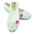 【CaiLing】玫瑰花珍珠防水輕便雨鞋(玫紅玫瑰)