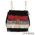 La Moda 歐美馬鞍包型系列・經典四色多層造型流蘇