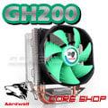 ☆酷銳科技☆Aardwolf GH200v2雙導熱銅管CPU散熱器/鯊魚鰭3pin靜音風扇/intel.AMD多平台